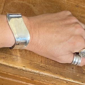 Sterling silver cuff bracelet from Tulum mexico